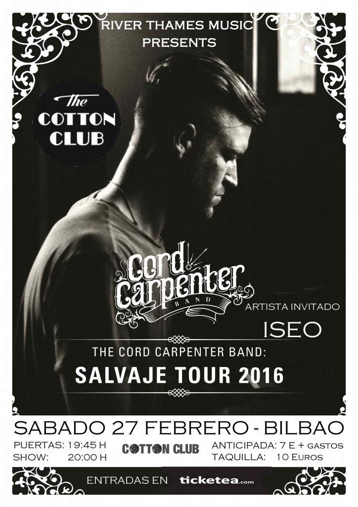 The Cord Carpenter Band - Salvaje Tour 2016